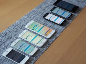 スマートフォンのそれぞの画面